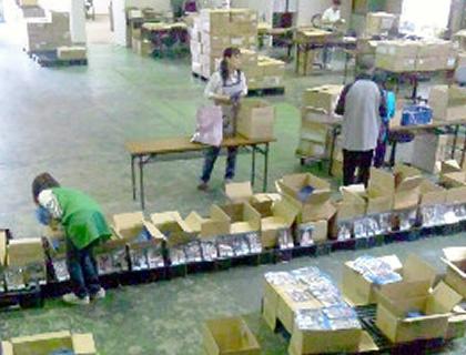 商品の検品、梱包、発送